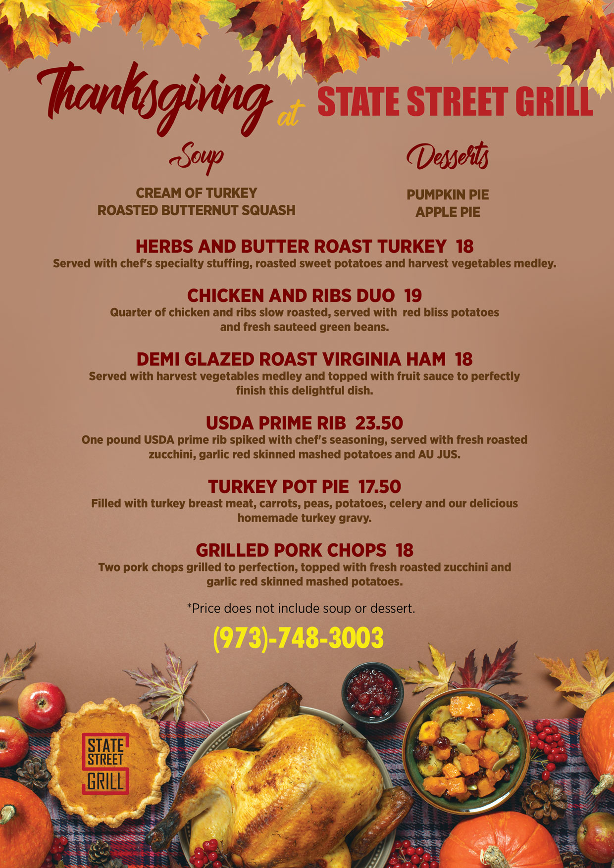 columbus day specials at state street grill nj bloomfield